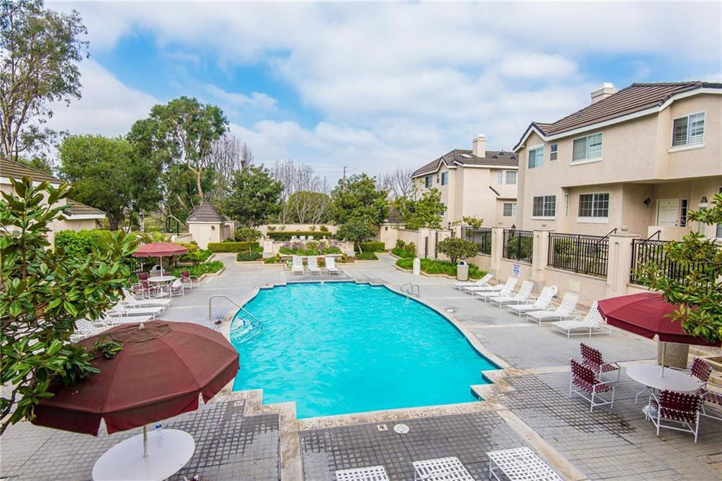 Pool area at Chatelaine in the Plaza Del Amo area of Torrance